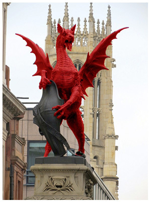 Der rote Drache i.d. City of London