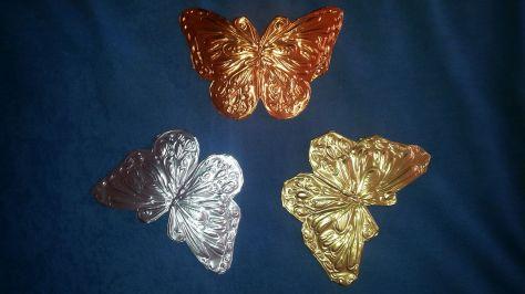 Schmetterline - Metall geprägt