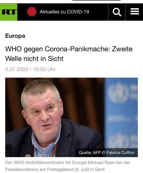 WHO gegen Panikmache